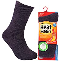 Heat Holders Women's Thick Colourful Winter Warm Short Wool Thermal Crew Socks