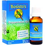 Bosisto's Peppermint Oil 25mL   Essential Oils, 100% pure Peppermint Essential Oil, Essential Oils, Premium Quality, Pharmaceuticul Grade Oil, Helps Comfort Mild Nausea, Pregnancy & Travel, Headache Relief, Australian Owned