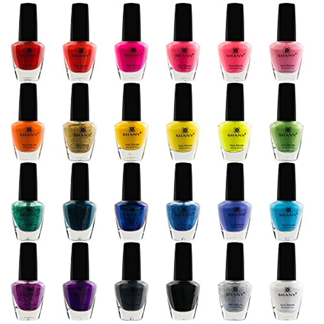 換気差別化するレパートリーSHANY Cosmetics The Cosmopolitan Nail Polish Set (24 Colors Premium Quality and Quick Dry), 0.5 fl ounce each