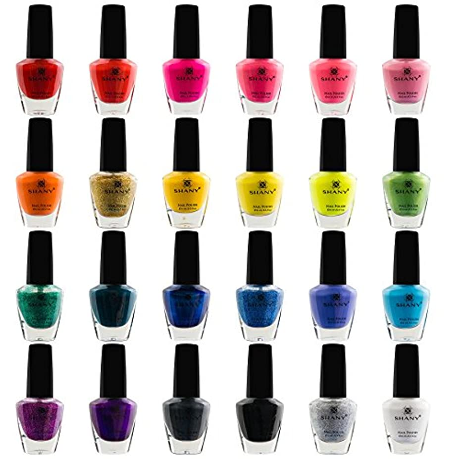 飢えた温かいコメンテーターSHANY Cosmetics The Cosmopolitan Nail Polish Set (24 Colors Premium Quality and Quick Dry), 0.5 fl ounce each
