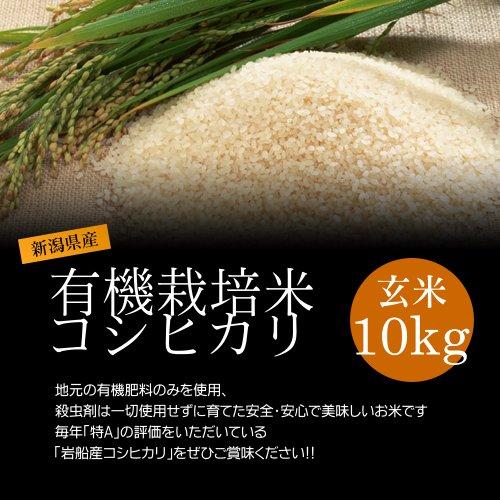 【お取り寄せグルメ】減農薬米コシヒカリ 玄米 10kg/化学肥料ゼロで育てた新潟産有機米