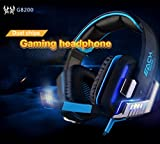 Amazon.co.jpMugen Power EACH G8200 Gamining Headphone 7.1 Surround USB Vibration Game Headset Headbank Earphone with Mic LED Light for PC Gamer PlayStation, XBox