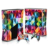 Linyuan 安定した品質 T3042* Skin Decal Wrap Sticker for Microsof XBOX360 SLIM Console+2 Controllers