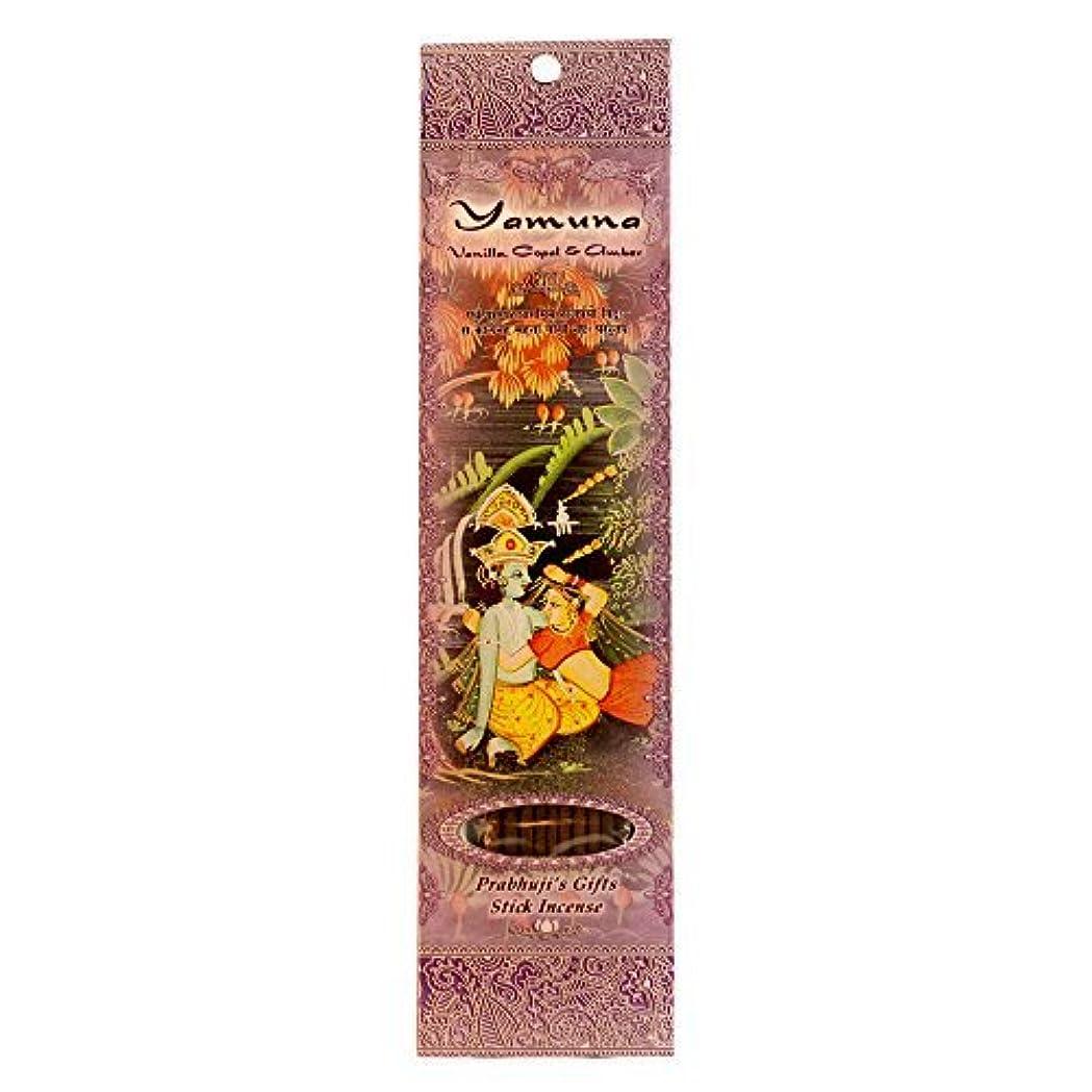 行商人輪郭きらめくIncense Sticks Yamuna - Vanilla Copal and Amber [並行輸入品]