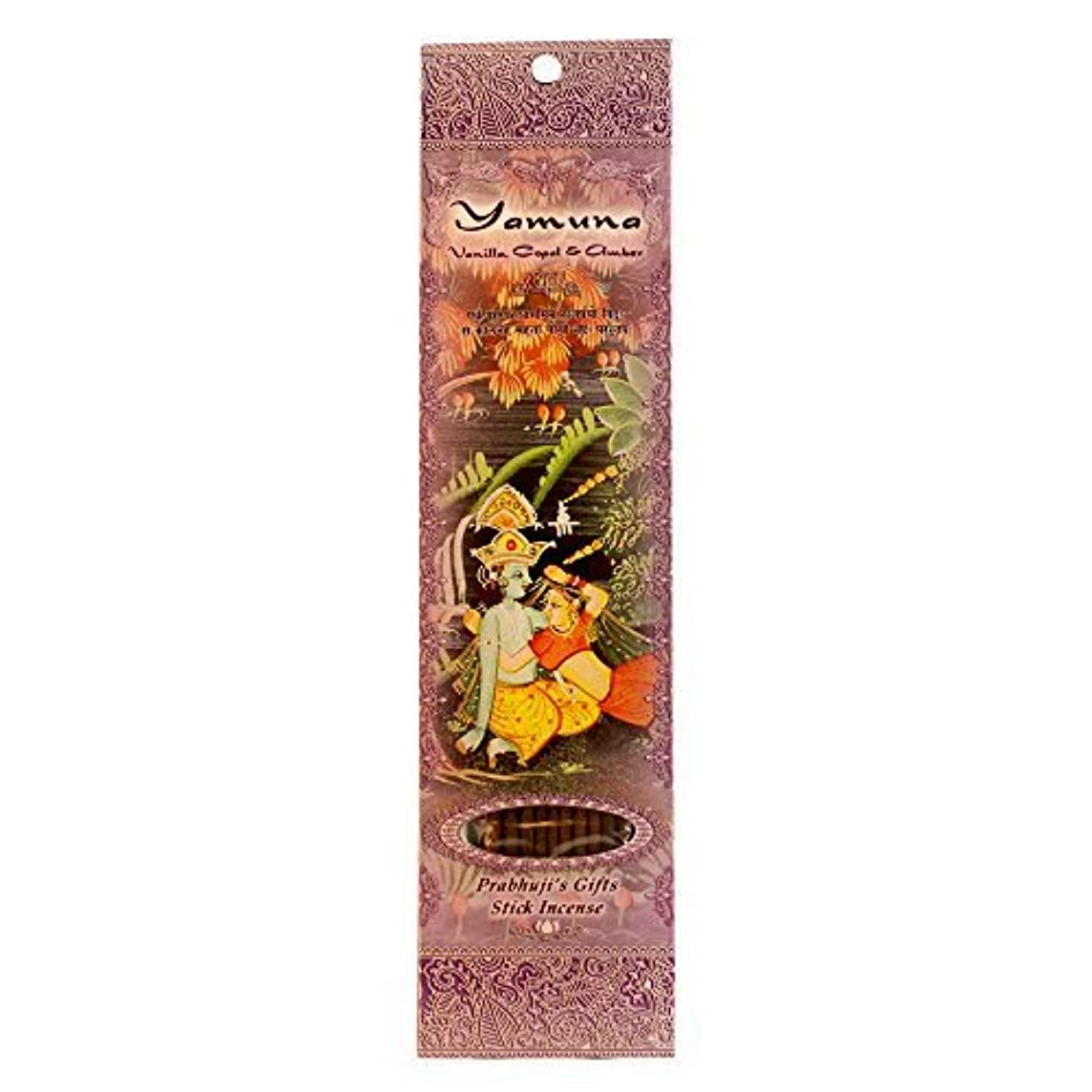 浮浪者全体不安定Incense Sticks Yamuna - Vanilla Copal and Amber [並行輸入品]