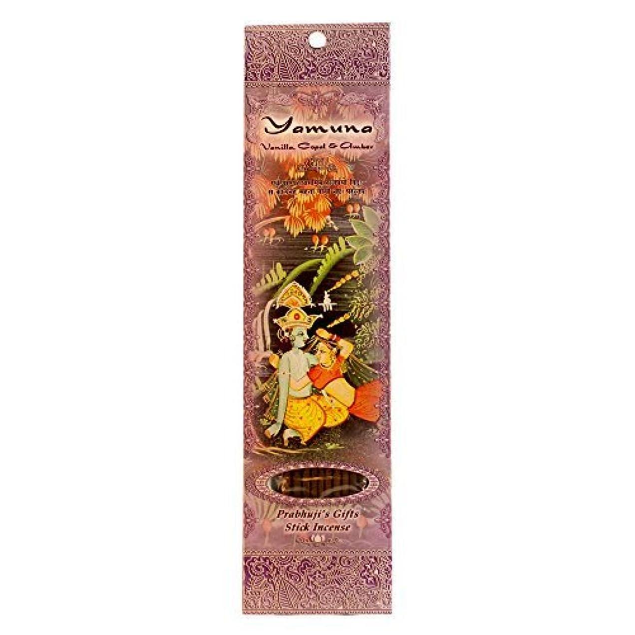 予防接種する粘着性しっかりIncense Sticks Yamuna - Vanilla Copal and Amber [並行輸入品]