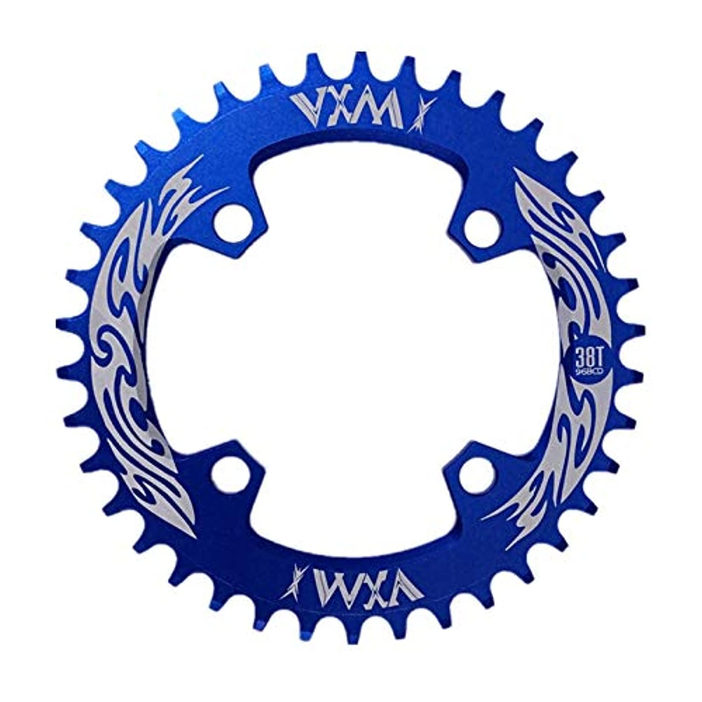 ブーム微生物卵Propenary - Bicycle Crank & Chainwheel 96BCD 38T Ultralight Alloy Bike Bicycle Narrow Wide Chainring Round Chainwheel...