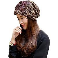 ZHICHUN 女性帽子キャップ 抗がん剤治療 ビーニー おしゃれ お出かけ キャップ 繊細 レース 大人かわいい帽子 花柄