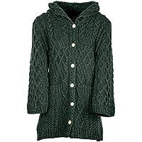 Ladies Merino Wool Long Cardigan with Hood