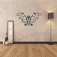 Ansyny 幾何学的なコウモリビニール壁デカール家の装飾リビングルームの寝室アート壁紙取り外し可能な壁のステッカー31×58センチ