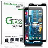 amFilm Google Pixel 2 XL Screen Protector Glass, Full Cover (3D Curved) Tempered Glass Screen Protector with Dot Matrix for Google Pixel 2 XL (1 Pack, Black)