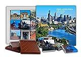 DAチョコレートキャンディスーベニア フィラデルフィア チョコレートギフトセット13x13cm 1箱 (日)