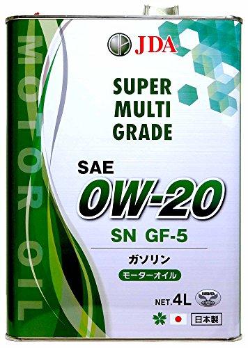 JDA エンジンオイル スーパーマルチグレードエンジンオイル 0W-20 4L 全合成基油 SN GF-5