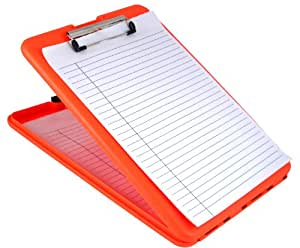 SAUNDERS(サンダース) SlimMate STORAGE CLIPBOARD (ORANGE)