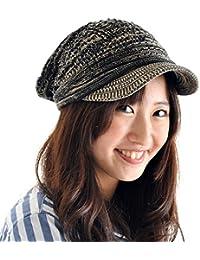 (JOIN・K)つば付き ニット帽 コットン サマー キャスケット ざっくり