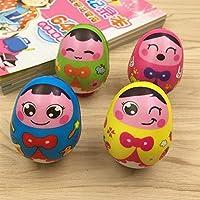 Keaner新生児幼児Roly - PolyおもちゃFun Rattle式Egg Tumblerおもちゃ(カラフル)