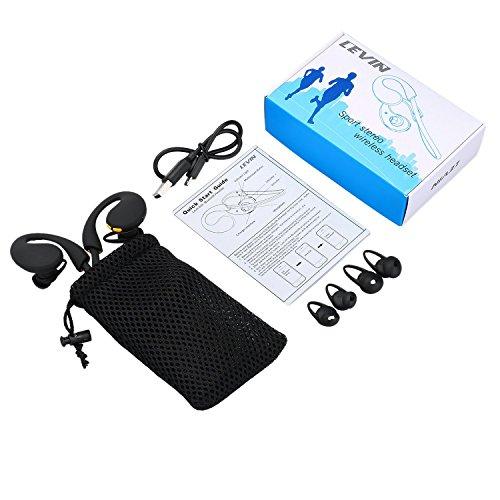 『LEVIN Bluetooth4.1 イヤホン 防水&防汗(IP66防水等級) 高音質 スポーツ仕様 ワイヤレスヘッドフォン (オレンジ&ブラック)』の6枚目の画像