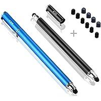 B&D スタイラスペン iPhone iPad Android スマートフォン タブレット タッチペン 2本 10pcs交換ペン先付き