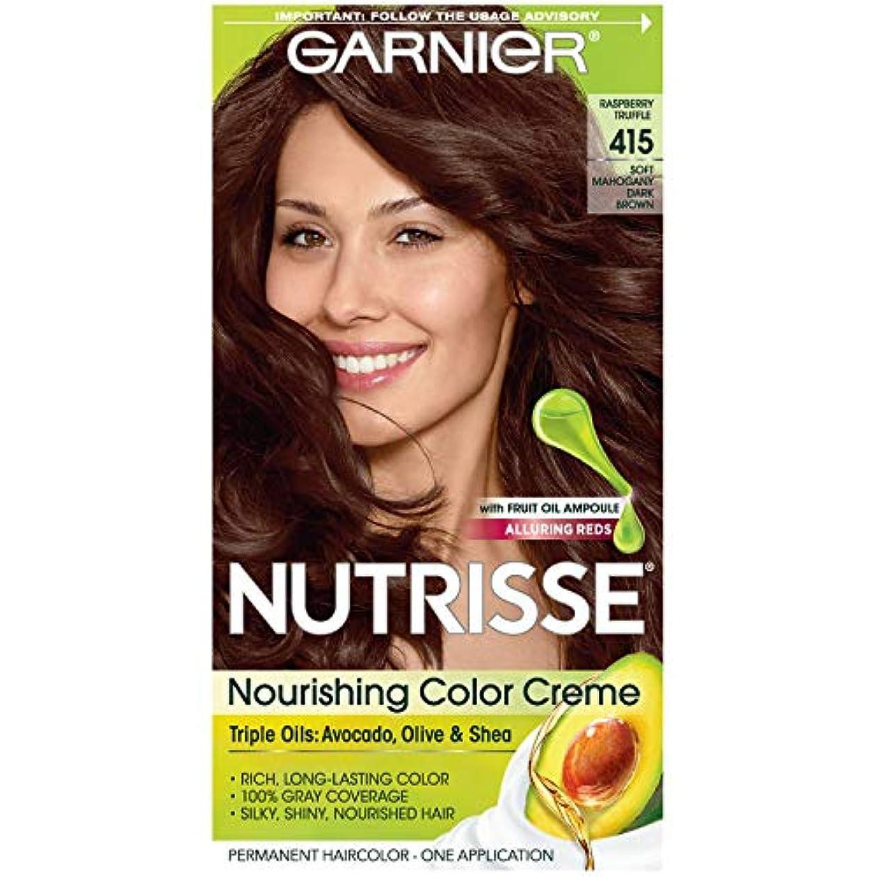 船尾抗生物質等価Garnier Nutrisseヘアカラー - 415ラズベリートリュフ(ソフトマホガニーダークブラウン)1各 1パック