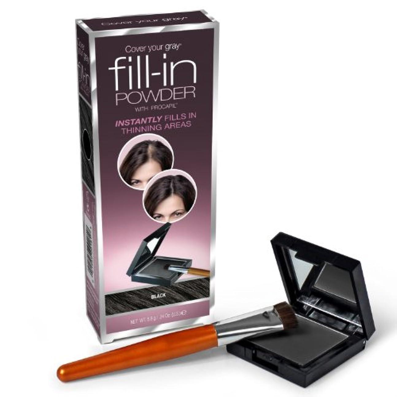 ステートメント時折純粋なFill In Powder for Thinning Hair Black (並行輸入品)