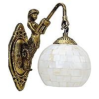 geekeep LED壁ランプ–壁マウント、マーメイドデザイン、アンティーク銅仕上げReadingライト器具の寝室