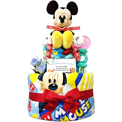 出産祝いに大人気! ディズニー ミッキーのおむつケーキ/赤ちゃ...
