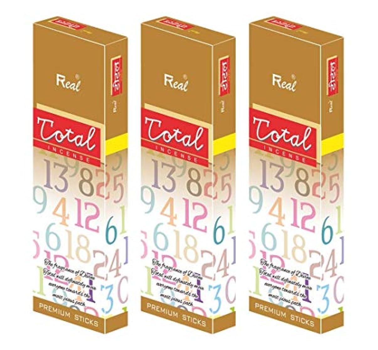 行方不明甘くするにREAL TOTOAL AGARBATTI Sticks Pack of 3 (100 GM Each)