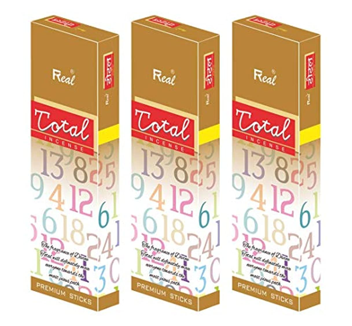 電気陽性割り当てます温帯REAL TOTOAL AGARBATTI Sticks Pack of 3 (100 GM Each)