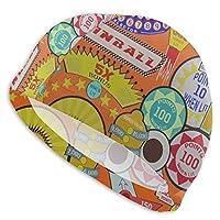 Pinball スイムキャップ 競泳 水泳帽 スイミングキャップ ストレッチ 海水浴 水泳キャップ 大人用 男女兼用 耐久性 無地 お洒落 柔軟な弾力 浸水防止