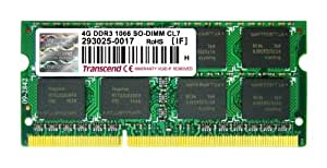 Transcend ノートPC用メモリ PC3-8500 DDR3 1066 4GB 1.5V 204pin SO-DIMM TS512MSK64V1N