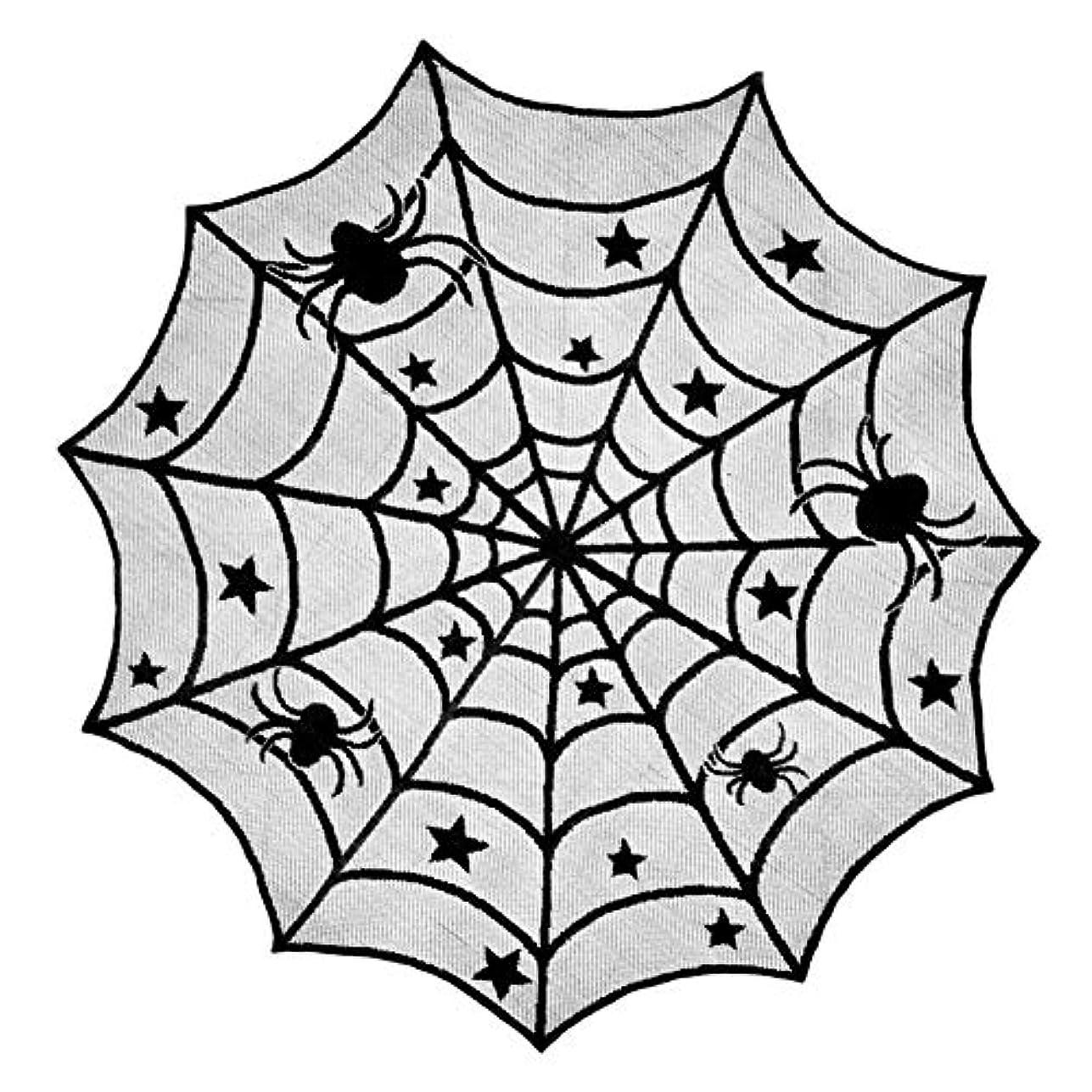 謎ファンネルウェブスパイダーライオンハロウィン 飾り テーブルクロス ブラックレース 蜘蛛の巣 舞台の飾り ハロウィンパーティー飾り 手芸 アクセサリー カーテン コスプレ 室内 暖炉 (スタイルC)