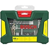 Bosch V-Line Drill Bit and Screwdriver Bit Accessory Set with Magnetic Rod (48 Piece Set)