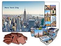 "DA CHOCOLATE キャンディ スーベニア ""ニューヨーク市"" NEW YORK CITY チョコレートギフトセット9.8x7In 4.23 Oz"
