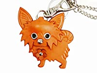 チワワGenuiineレザー動物/犬バッグチャーム/ keychainvancaハンドメイドの日本