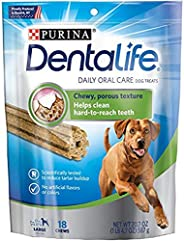 Dentalife Large Dog Treats, 18 Chews