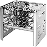 KJRJSK Folding BBQ Barbecue Portable Charcole Grill Stainless Folding Charcoal Camping Barbecue Oven