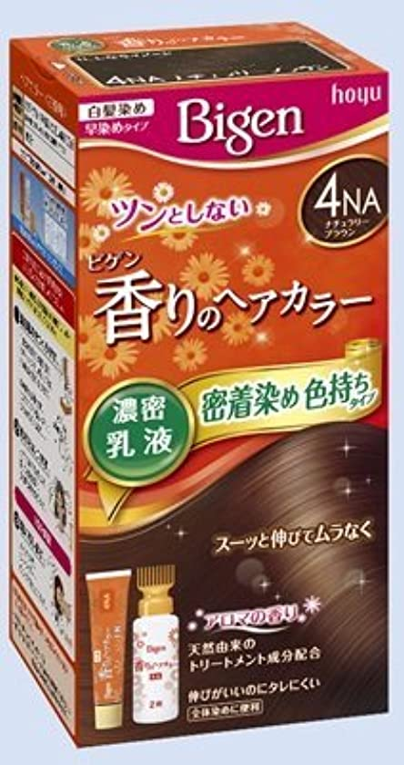 租界フォアタイプ十二ビゲン 香りのヘアカラー 乳液 4NA ナチュラリーブラウン × 10個セット