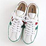 maccheronian(マカロニアン) レザースニーカー No.2215L white/green/red (43(26.5cm))