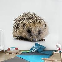 不織布壁紙プレミアム–Little Hedgehog–壁画正方形壁紙壁壁画写真機能wall-art壁紙壁画寝室リビングルーム HxW: 132,28 x 132,28 inch 97077