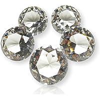LAPHSODA(ラフソーダ) クリスタル ダイヤ カット オブジェ 装飾 パーツ 40mm 5個 セット