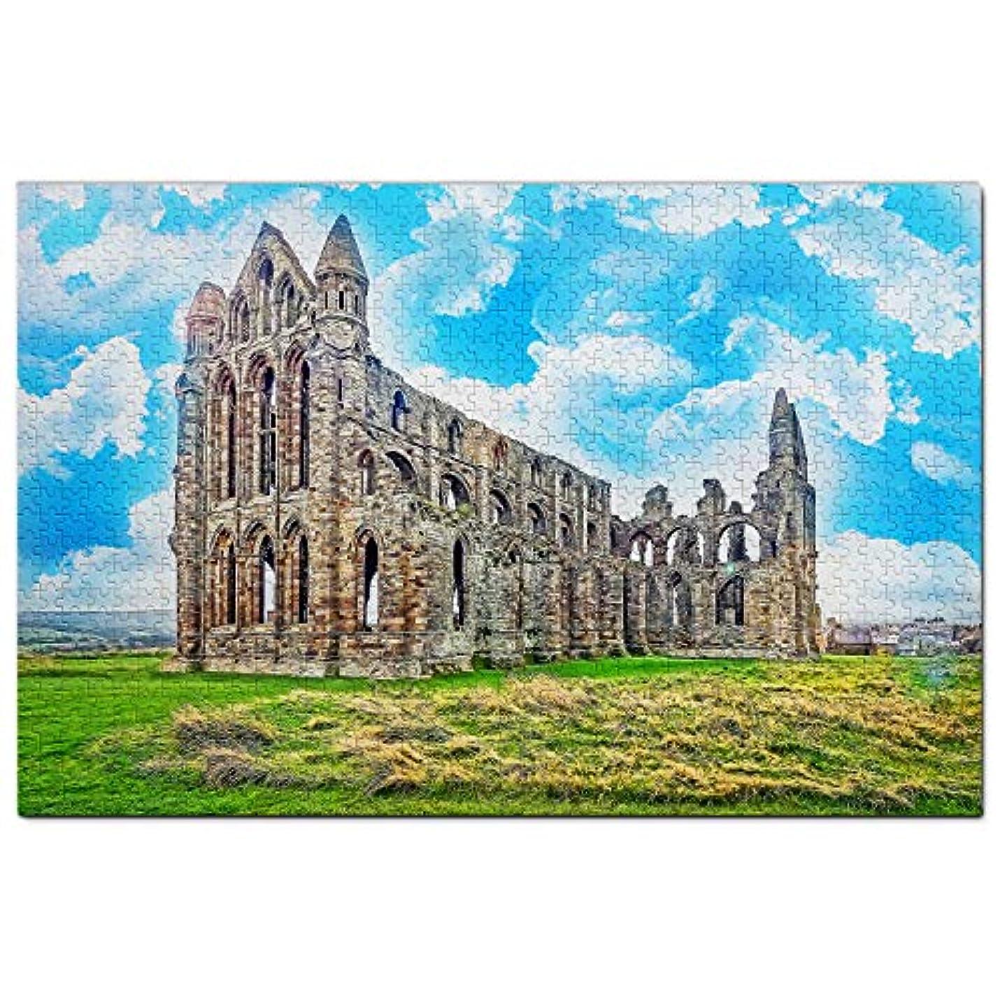 フロンティアずるい調停する英国ジグソーパズル1000ピースイギリスウィットビー修道院ヨークパズルゲームアートワーク旅行お土産木製