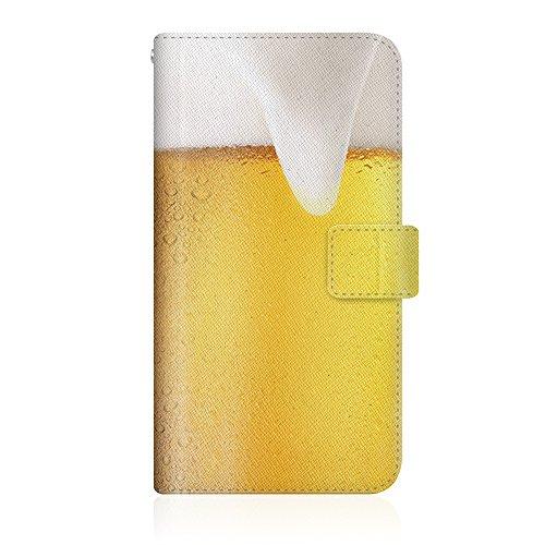 CaseMarket 【手帳型】 apple iPhone 7 Plus (iPhone7p) スリムケース ステッチモデル [ 手帳 de 生ビール - 生中 ] iPhone7p-VCM2S2558