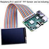 Kuman 40ピン GPIO Raspberry Pi用キットヘッダー オス/メス 20cm/8インチ 2.54mm フラットリボンケーブル ジャンパワイヤ Raspberry Pi TFT液晶パネルに接続するため(3.5インチ、5インチ)ラズベリーパイ K70