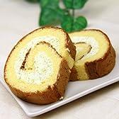 【カステラ】【秘伝豆】つぶつぶ豆入りロールケーキ(16cm)