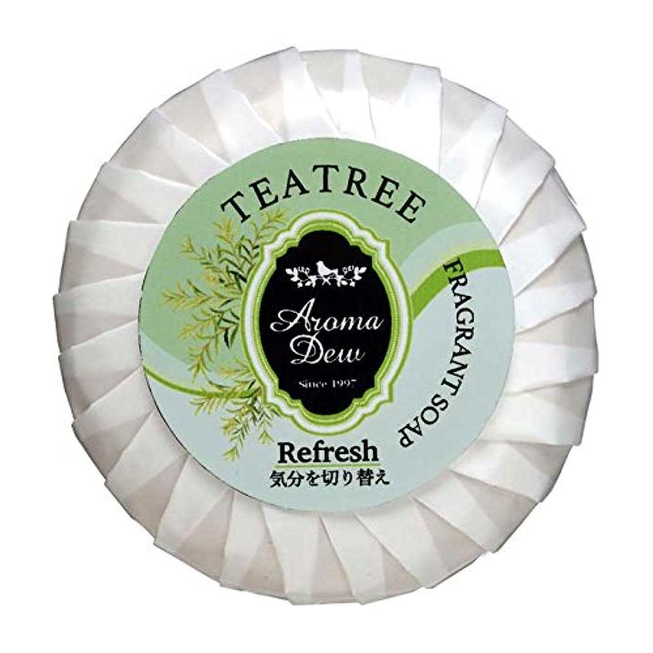 クリーク寄付縞模様のアロマデュウ フレグラントソープ ティーツリーの香り 100g