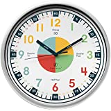 Teaching Clock by owlconic |教育クロック時間Faster + Makes子どもの学習が楽しい。クリエイティブの子の壁時計Perfect for親と教師、の幼児のベッドルームや教室。
