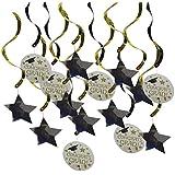 Prettyia 約15枚 ガーランド 天井装飾 星 角帽 卒業パーティーデコレーション