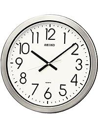 セイコー クロック 掛け時計 アナログ 防湿 防塵型 オフィスタイプ 金属枠 KH407S SEIKO