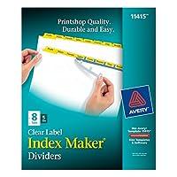 Index Maker Divider w/Color Tabs, Yellow 8-Tab, Letter, 5 Sets/Pack (並行輸入品)