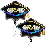 卒業キャップバルーン 2個パック - 卒業パーティー用品 2019年 卒業式デコレーション ヘリウム対応アルミ箔マイラーバルーン キャップ形状 卒業バルーン 卒業パーティー用バルーン